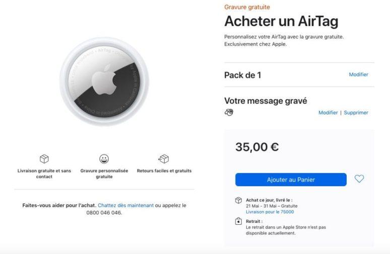 Acheter 1 AirTag Apple Store En Ligne AirTag : les délais de livraison passent à mai