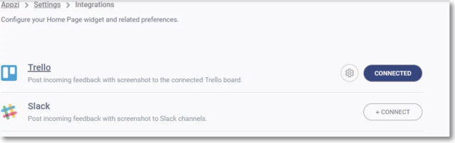 integrate appzi with slack and trello