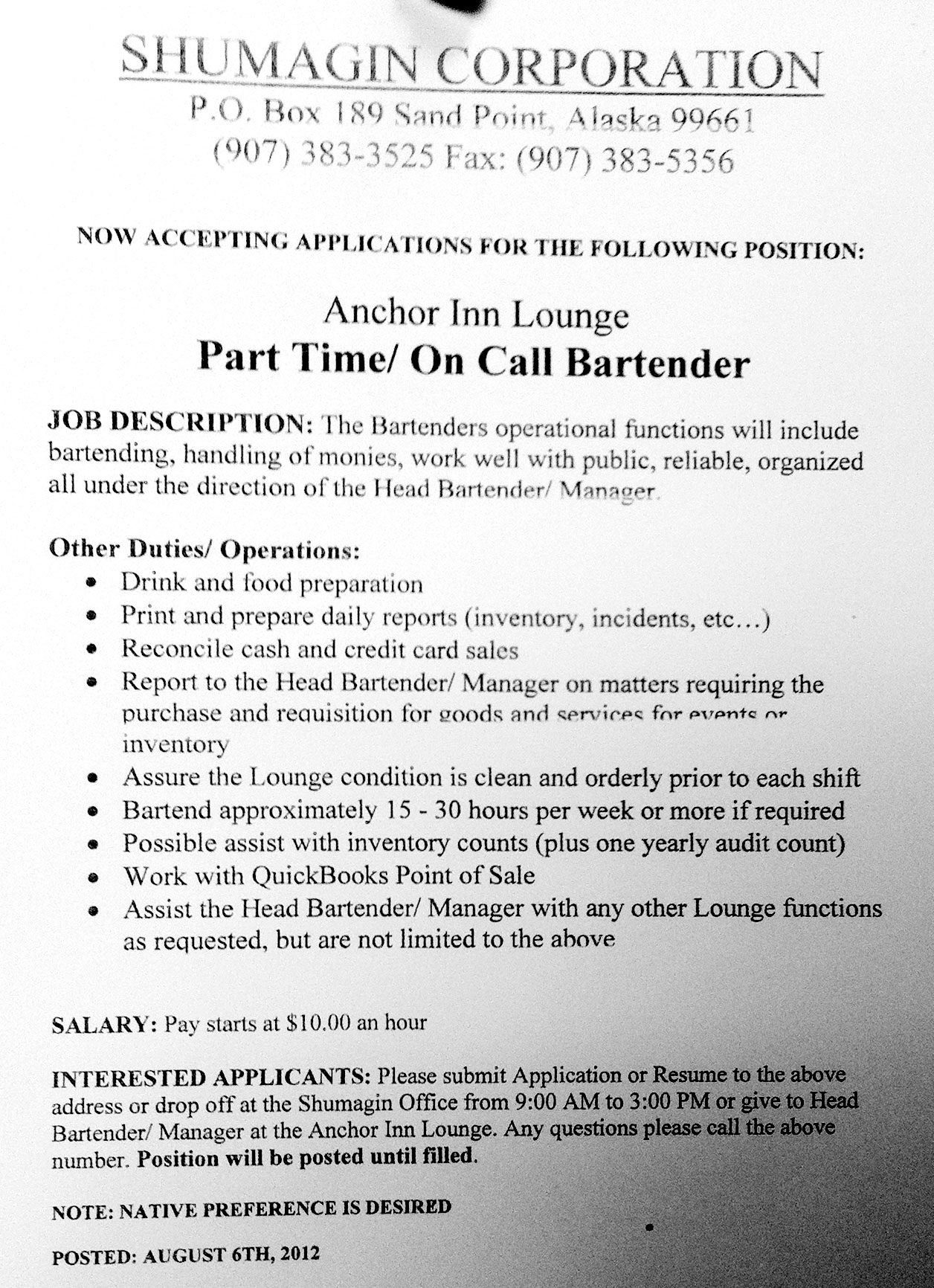 Employment Opportunity Archive - 830 AM KSDP – Sand Point, AK - page 4