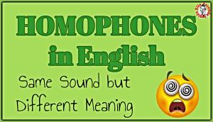homophones in english