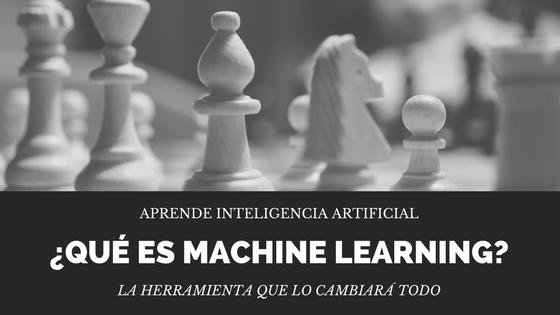 aprendizaje automático que es