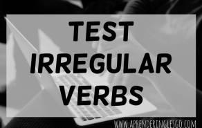 test irregular verbs