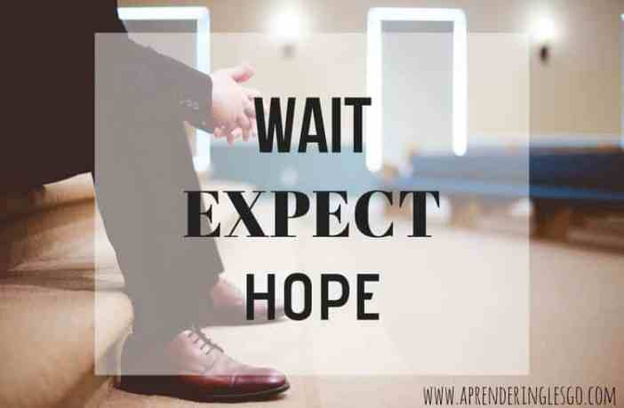 wait, expect y hope