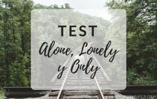 test alone, lonely y only - ejercicios para practicar