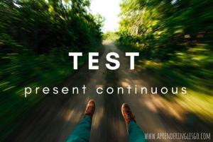 test present continuous - ejercicios para practicar