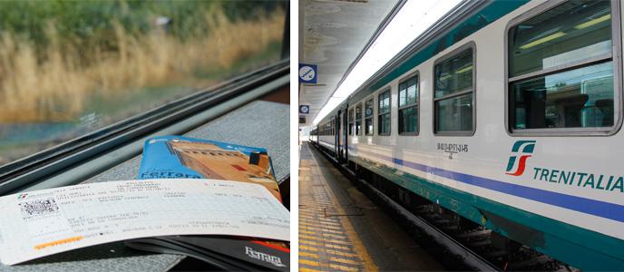 Trem indo para Ferrara