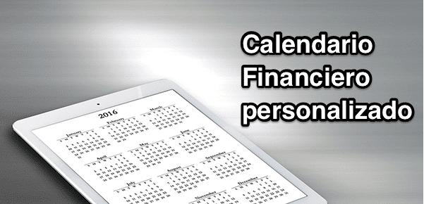 Calendario Financiero personalizado