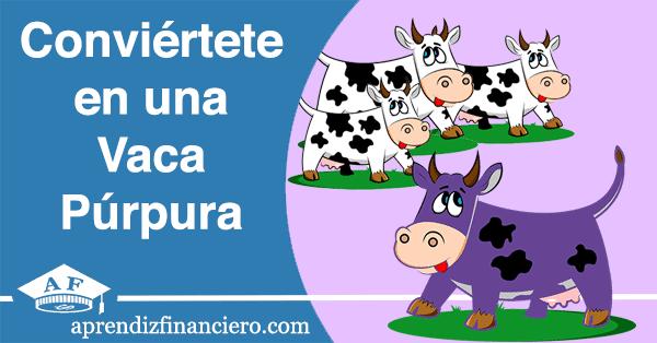 Vaca blanca vaca purpura