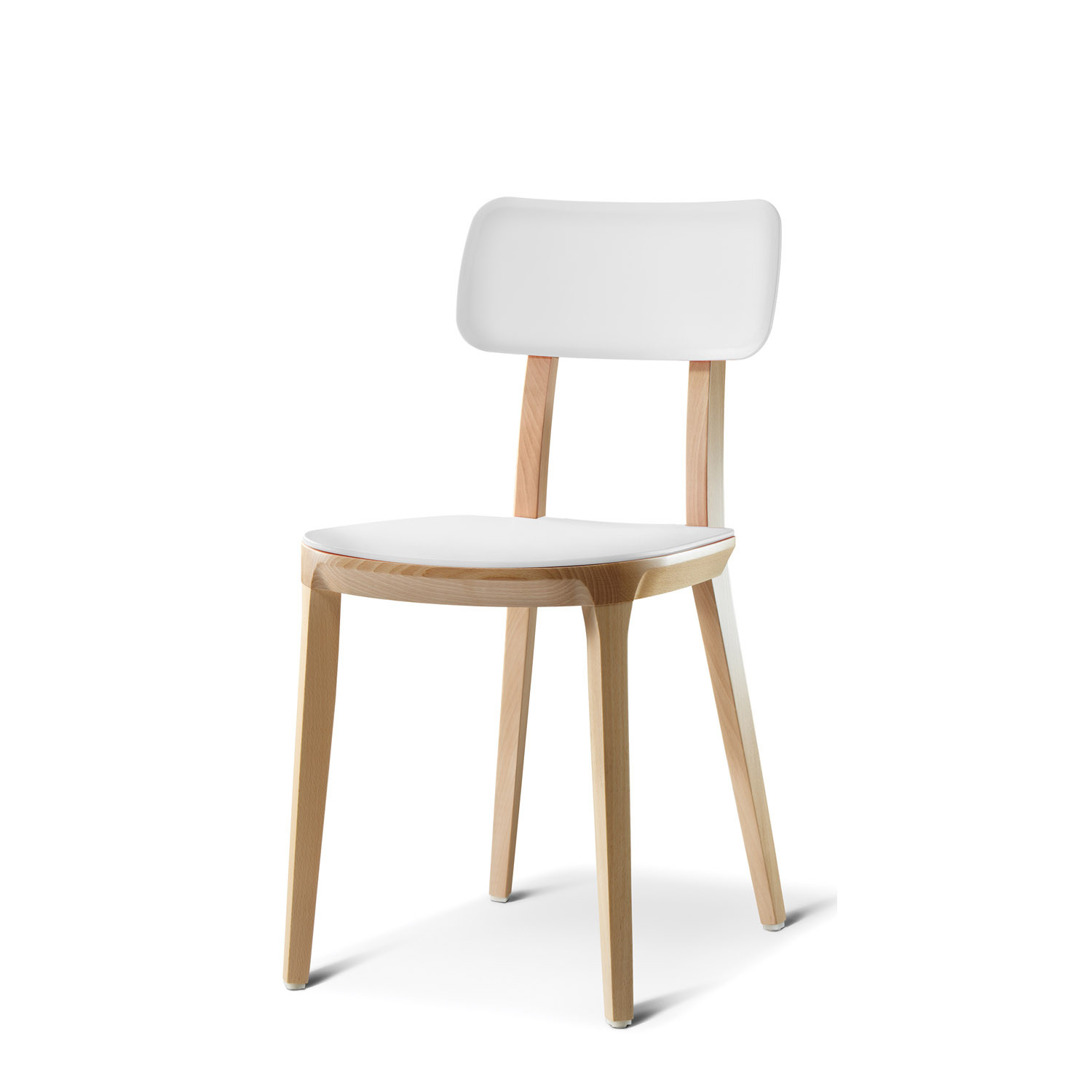 retro white chair mesh mid back asda breakout mrt1 solid wood cafe chairs apres