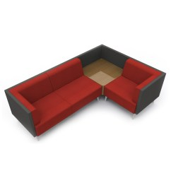 L Shaped Sofa For Office Flip Bed Toddler Tryst Range Acoustic High Back Seating Apres