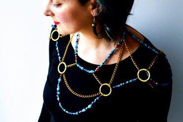 Maxi collier de soirée / DIY