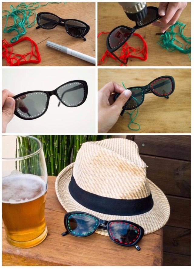 DIY / Broderie sur lunettes de soleil / Après la flemme