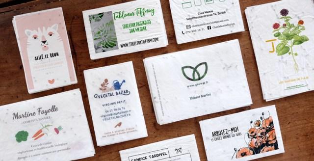 Growingpaper, le papier ensemencé / Après la flemme
