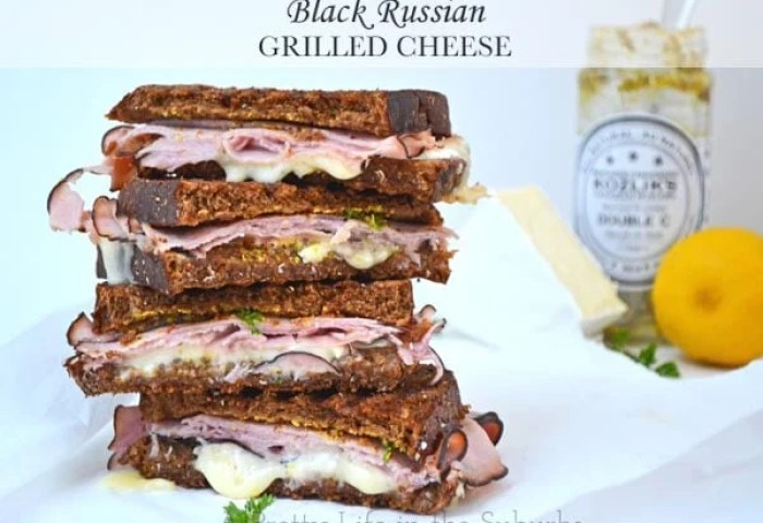 Black Russian Grilled Cheese A Pretty Life In The Suburbs