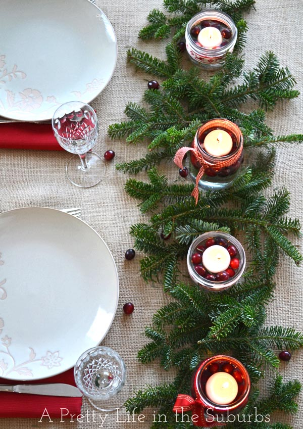 How To Make A Christmas Centerpiece With Candles