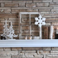 Living Room Mantel Tv Stand Decor My Winter A Pretty Life In The Suburbs Save