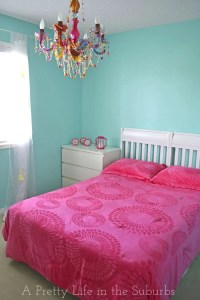 Turquoise & Hot Pink Tween Room - A Pretty Life In The Suburbs