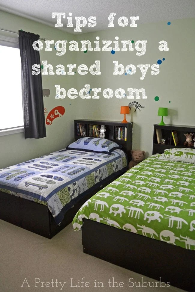 Organizing A Shared Boys Bedroom  A Pretty Life In The