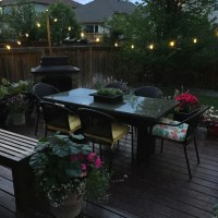 Easy DIY Patio Lights - A Pretty Life In The Suburbs