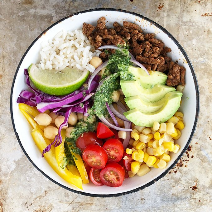 Mexican Bowl Recipe With Cilantro Lime Dressing A