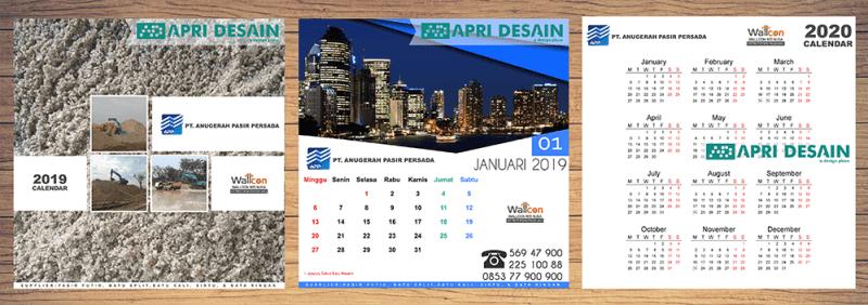 jasa desain kalender 2020 Jakarta