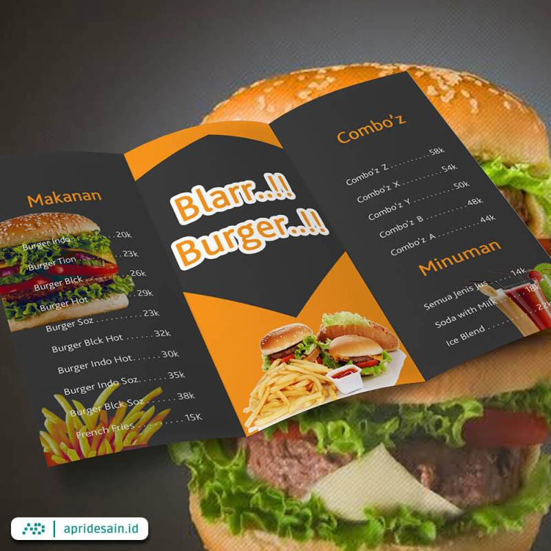 jasa desain daftar menu