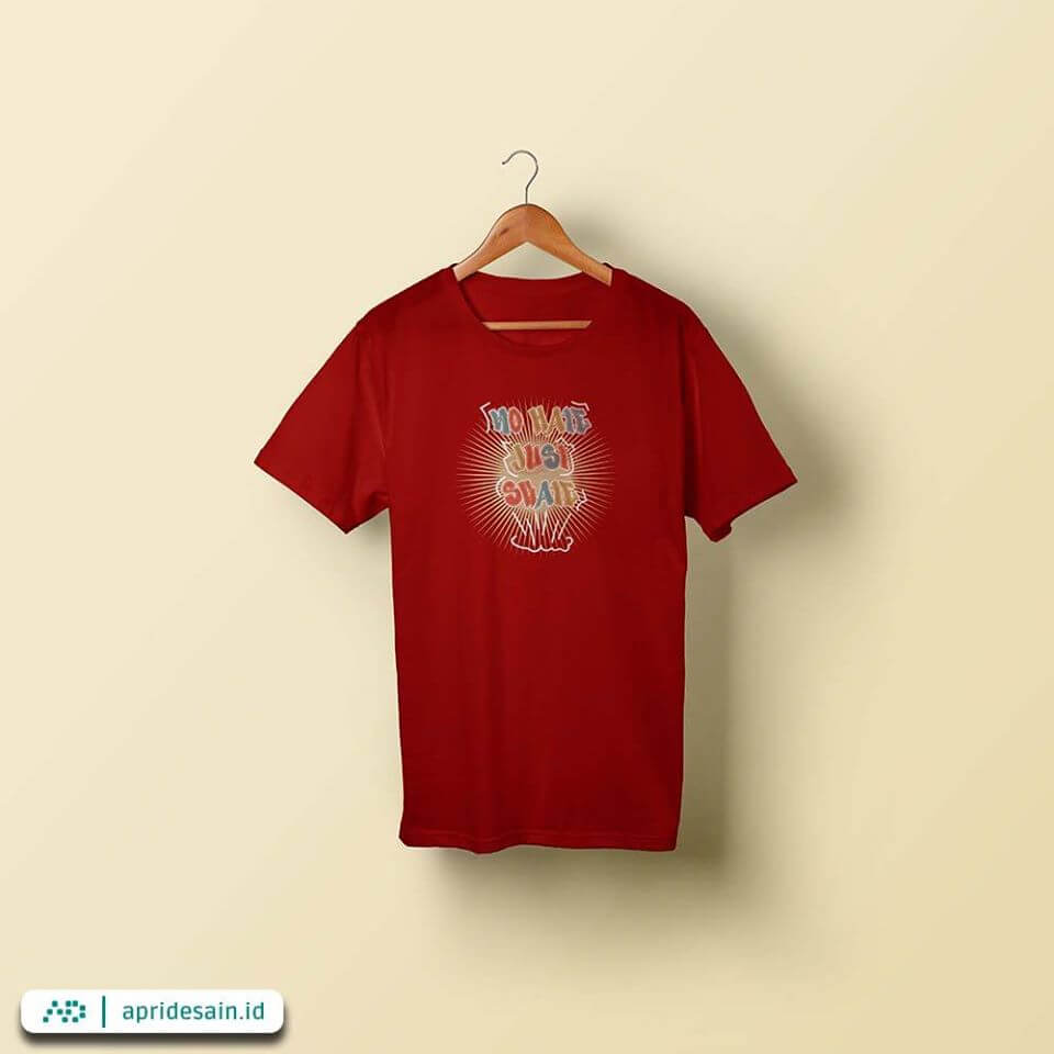 desain kaos distro merah
