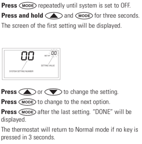 small resolution of the temperature scale s adjustable between fahrenheit and celsius in the set up menu and is system setting option 04 the factory default is fahrenheit