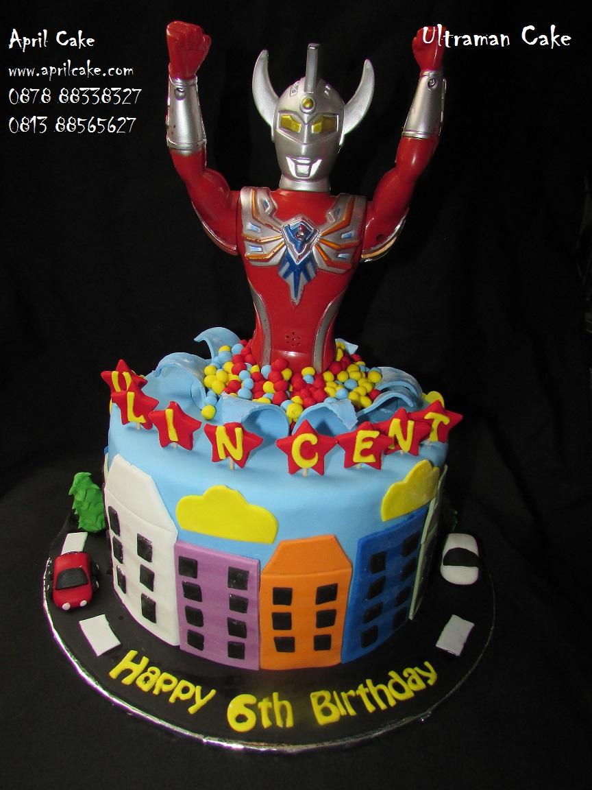 Ultraman Cake Vlincent April Cake