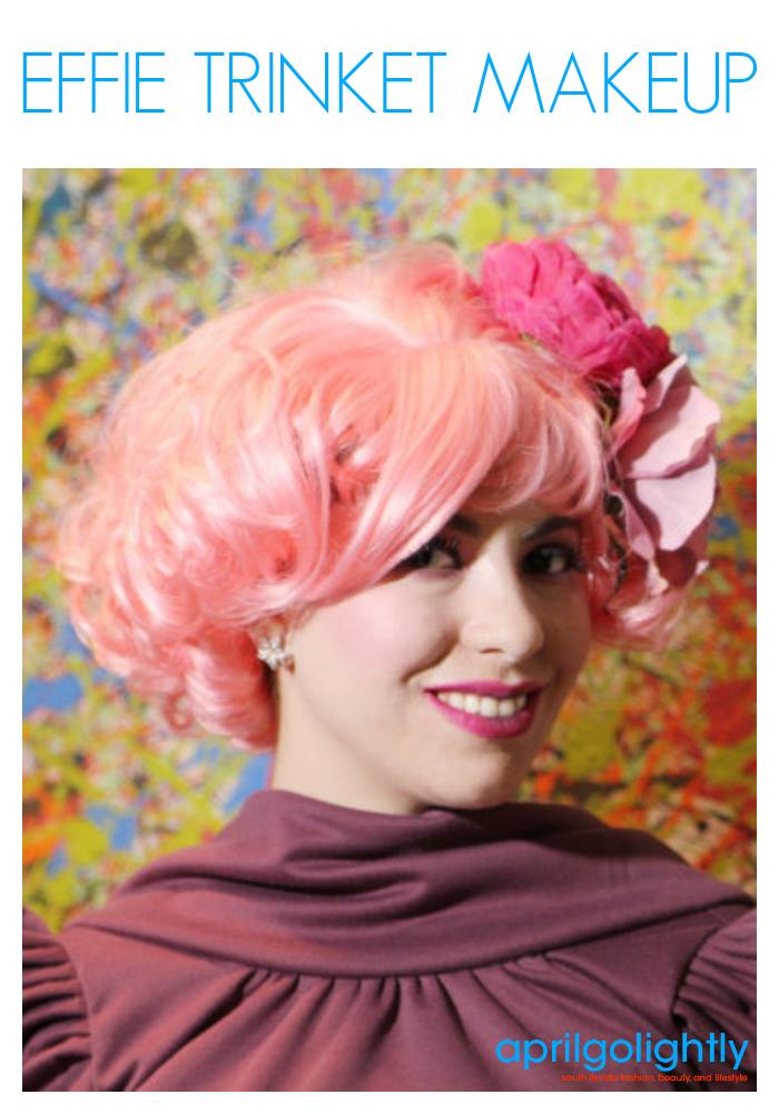 Effie Trinket Makeup Tutorial from the hunger games