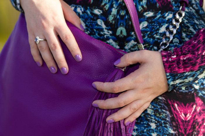 Radiant Orchid Handbag worn by aprilgolightly.com