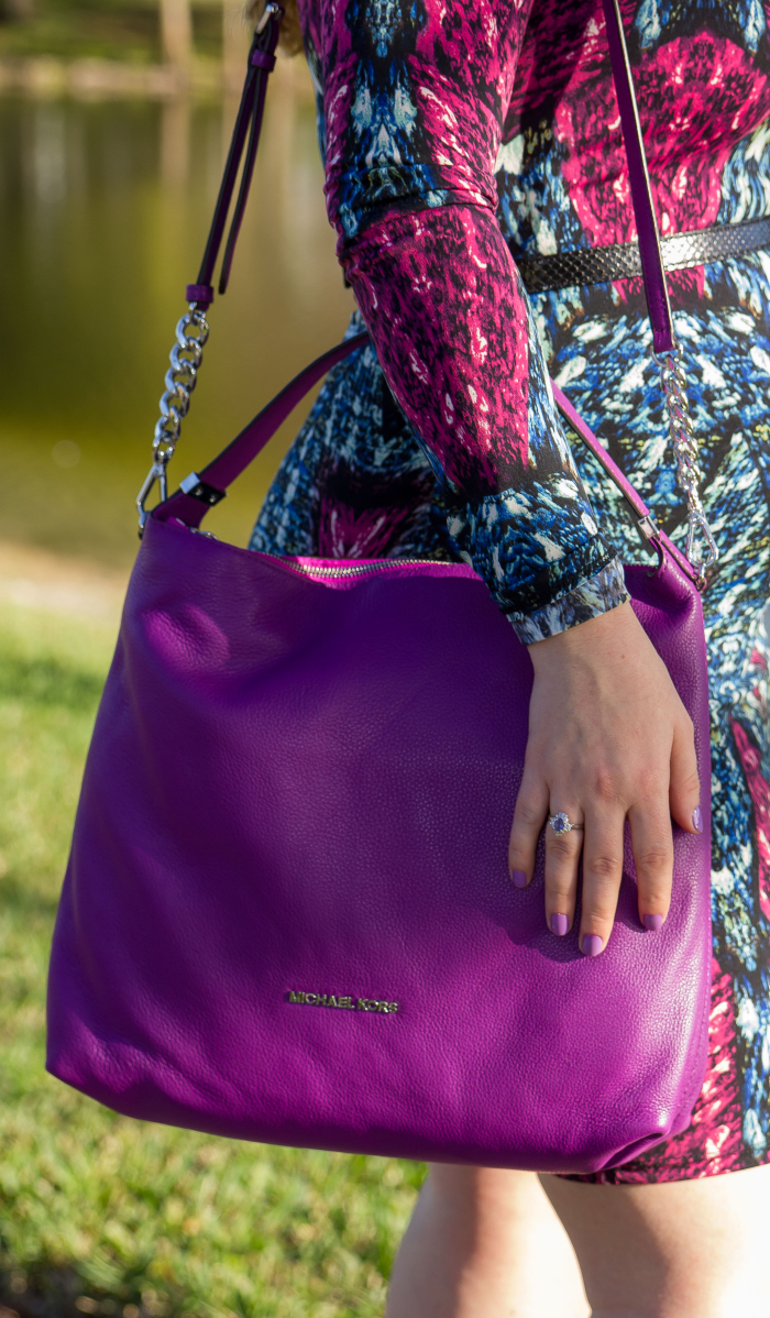 Radiant Orchid Michael Kors Bag the color of the year 2014 worn by blogger aprilgolightly.com