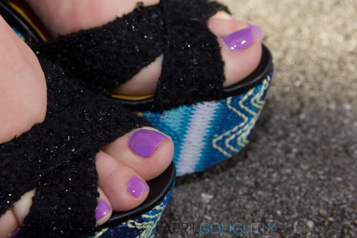 Radiant Orchid Pedicure worn by April Golightly