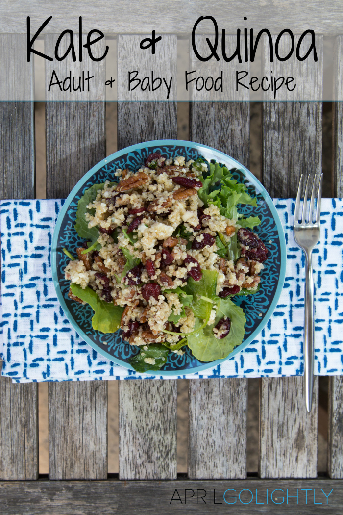 Kale quinoa salad infant to adult recipe kale and quinoa adult and baby food recipe forumfinder Images
