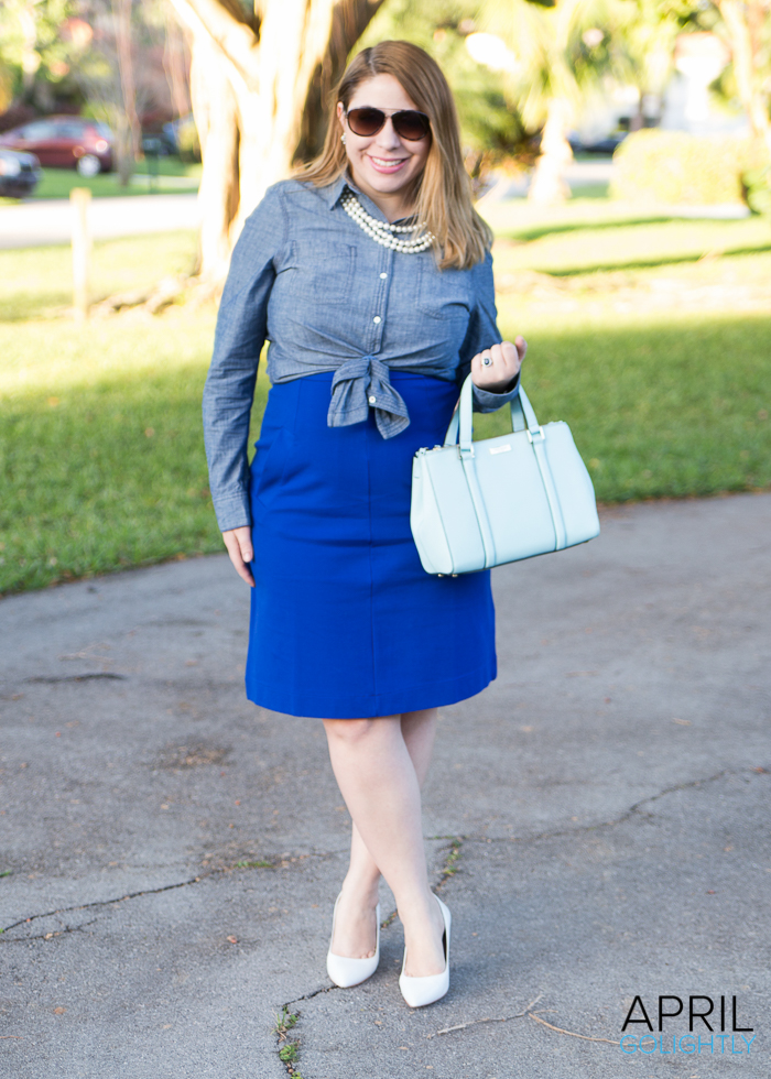 Chambray Layed over Dress-2