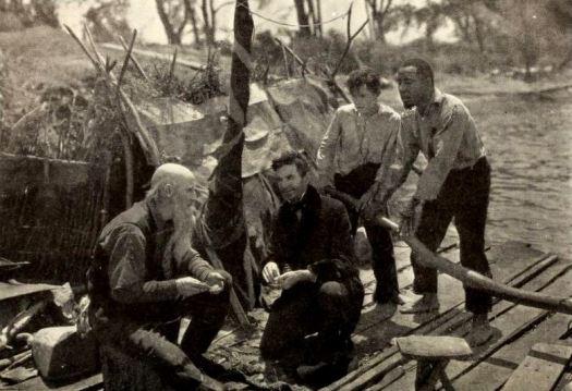 Still from 1920 film of Huckleberry Finn