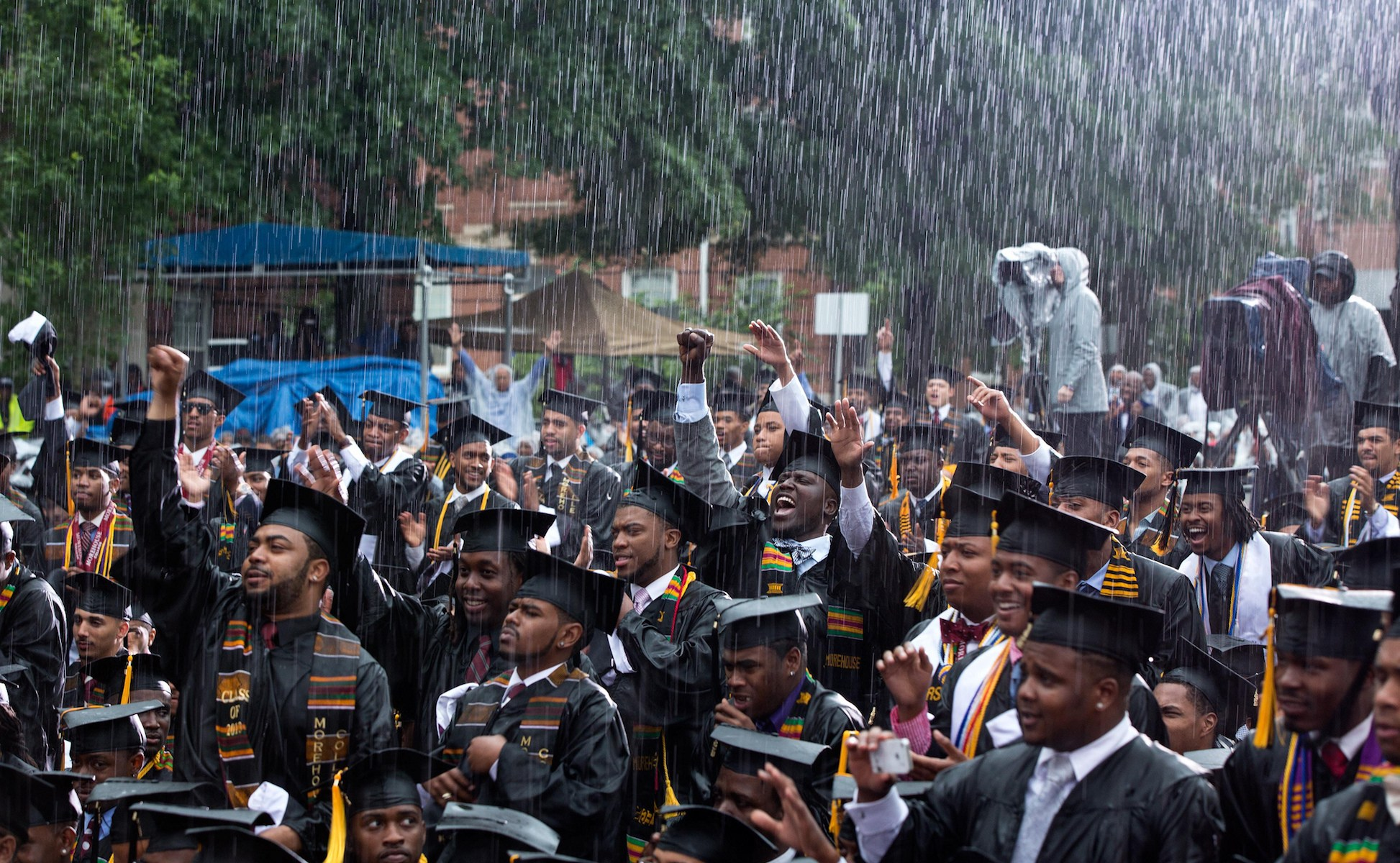The crowd at Morehouse College's commencement.