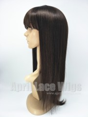 indian virgin lace wig with bangs