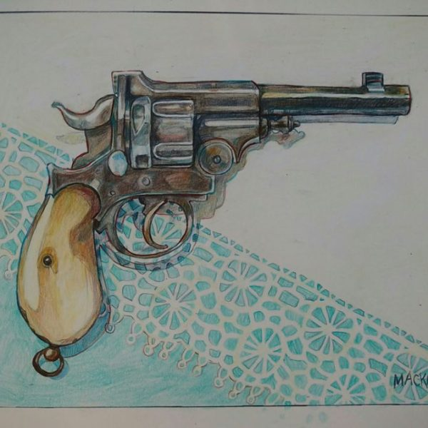 gun-oil-pencil-on-bristol-paper-8x10-2016