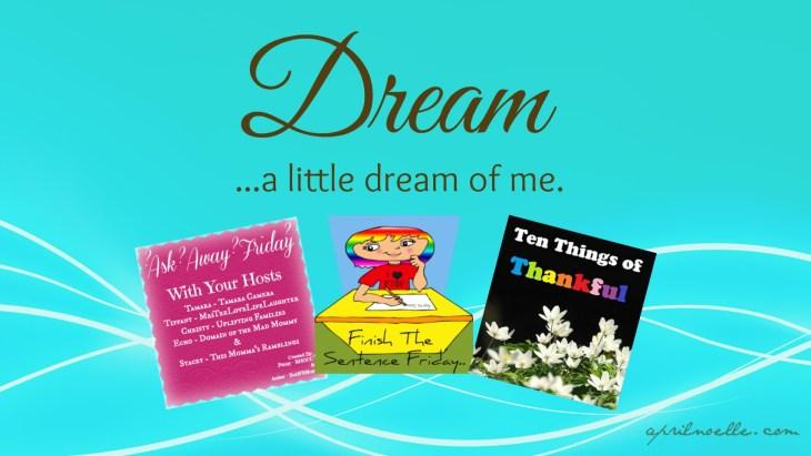 Dream A Little Dream Of Me #TToT #AAF #FTSF