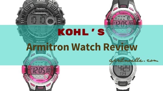 Kohl's Armitron Watch Review #MakeYourMove