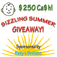 Baby's Brilliant App Sizzling Summer $250 Giveaway {2 Winners}