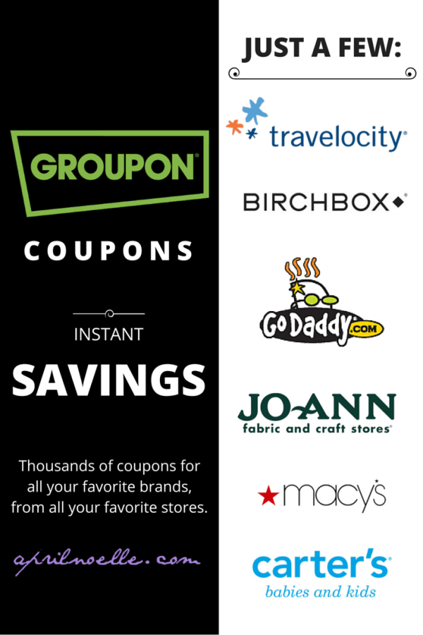 Groupon Coupons (#GrouponCoupons) | AprilNoelle.com #spon