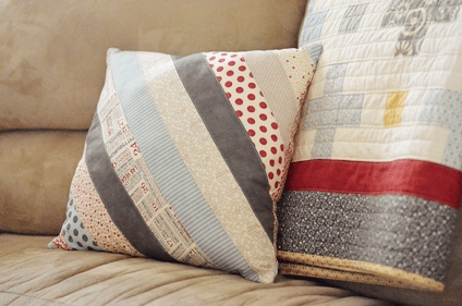 Positively Perfect: a free quilt and throw pillow pattern. april rosenthal