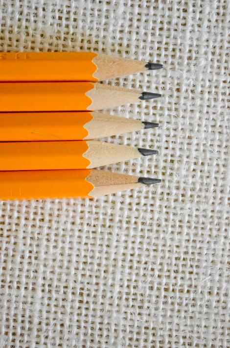 pencils in a row - aprilrosenthal.com