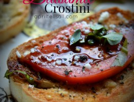 Tomato Balsamic Crostini