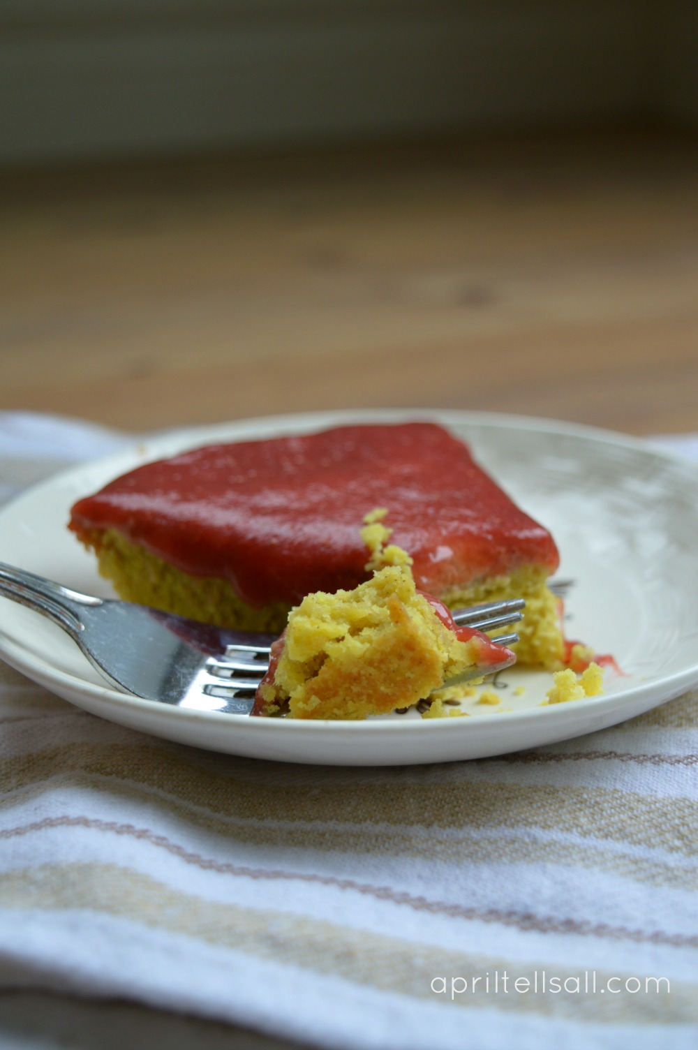 Fine Crisp Cake With Berry Compote April Tells All