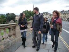 Cindi, Daniel, Keiko and Miriam in Georgian Bath