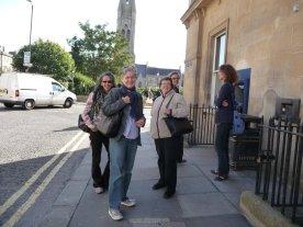 Cindi, Teresa, Mary, eight printmakers all told took a bath in Bath.