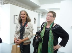 Nel and Anita Jensen, who had a show of digital work next door.